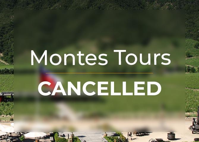 MONTES TOURS CANCELLED
