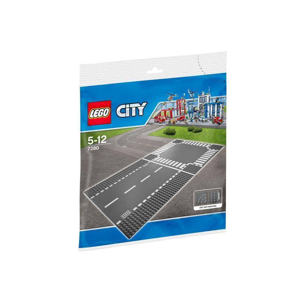 LEGO City Straight and Crossroads Baseplates