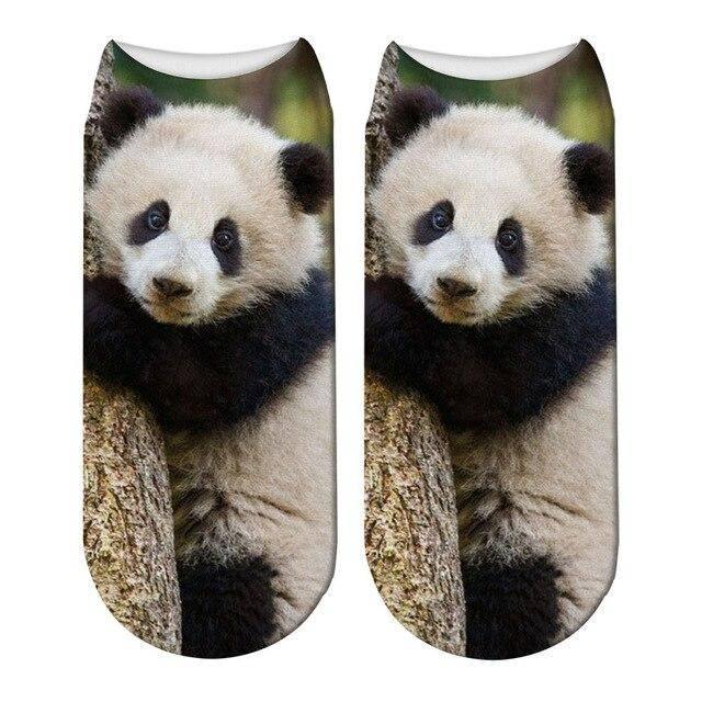 socquettes imprime panda foret