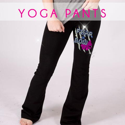 glitterstarz bling basics yoga pant black stretchy comfy teamwear
