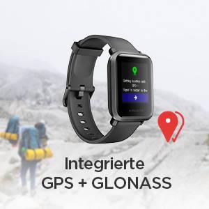 Amazfit Bip S - Hochpräzises 28-nm-GPS von Sony mit geringem Stromverbrauch.