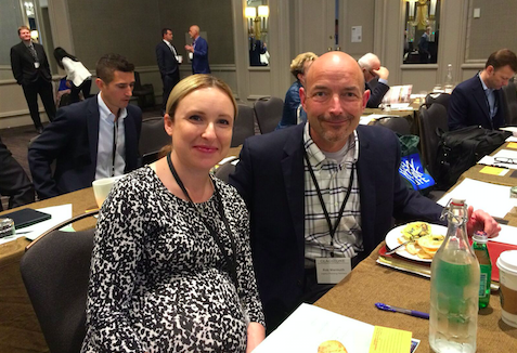 Rob Wermuth, senior partner at Legacy Planning Partners, with colleague Natalie Hodak