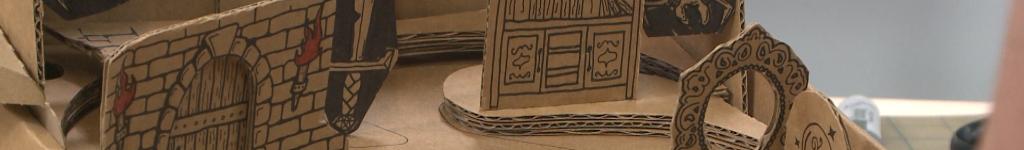 DIY cardboard castle project
