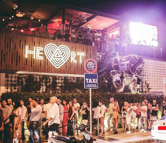 Heart Ibiza exterior, all year open clubs ibiza, clubbing guide