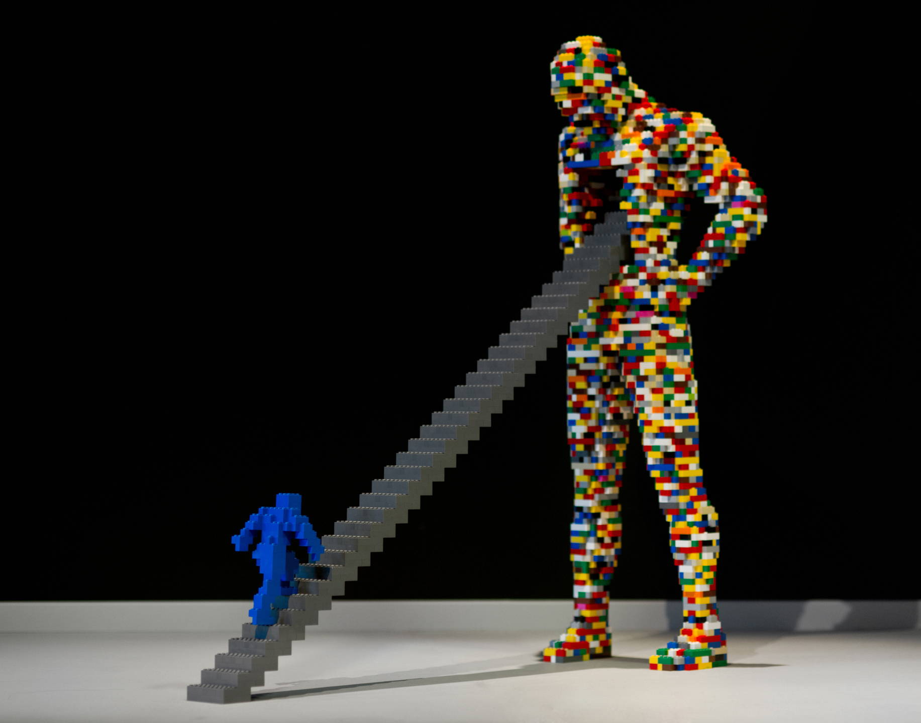 sculptures form lego