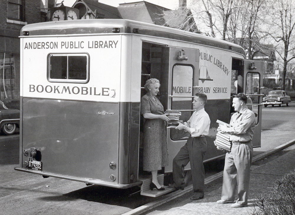 Library bookmobile in 1955