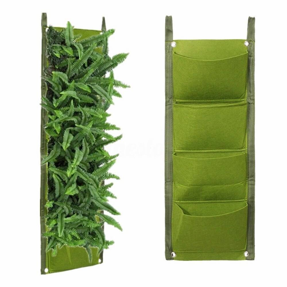 4 pockets-flower-plantation-suspended-bags-garden-wall-plants-green-basket-gardenwall-details-1