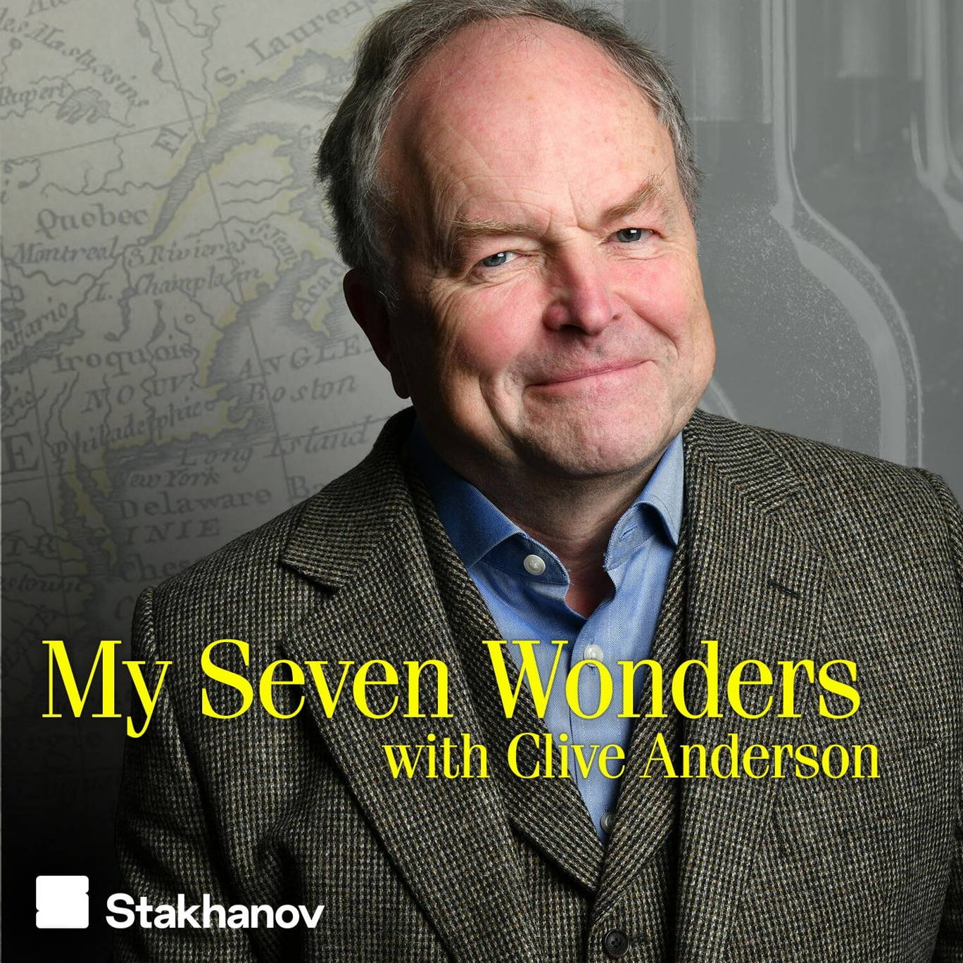 The artwork for the My Seven Wonders with Clive Anderson podcast.