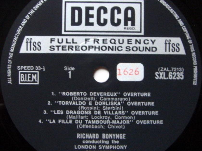 DECCA SXL-NB-ED5 / BONYNGE, - Favourite Overtures of the 19th Century, MINT!