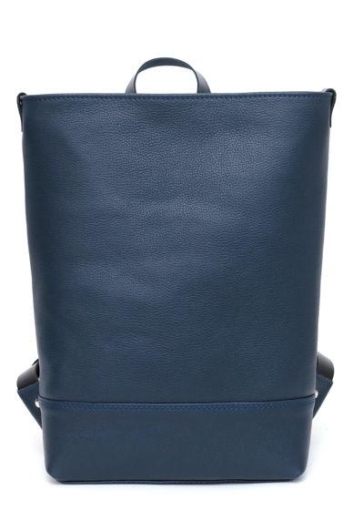 Кожаный синий городской рюкзак