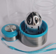 Стеклянная Бутылочка для воды голубая