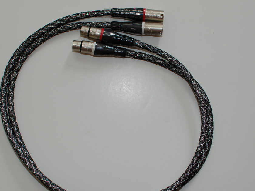 Acoustic Zen Absoulute   1M pair XLR Interconnect-Excellent condition- Free shipping