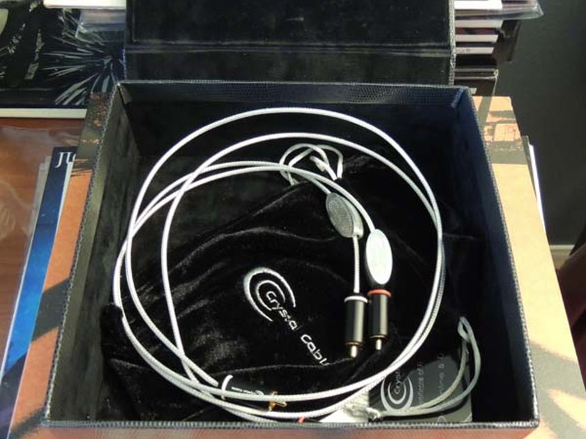 CRYSTAL CABLE Ultra Diamond .5m XLR Interconnects, Customer Trade, Full Warranty!