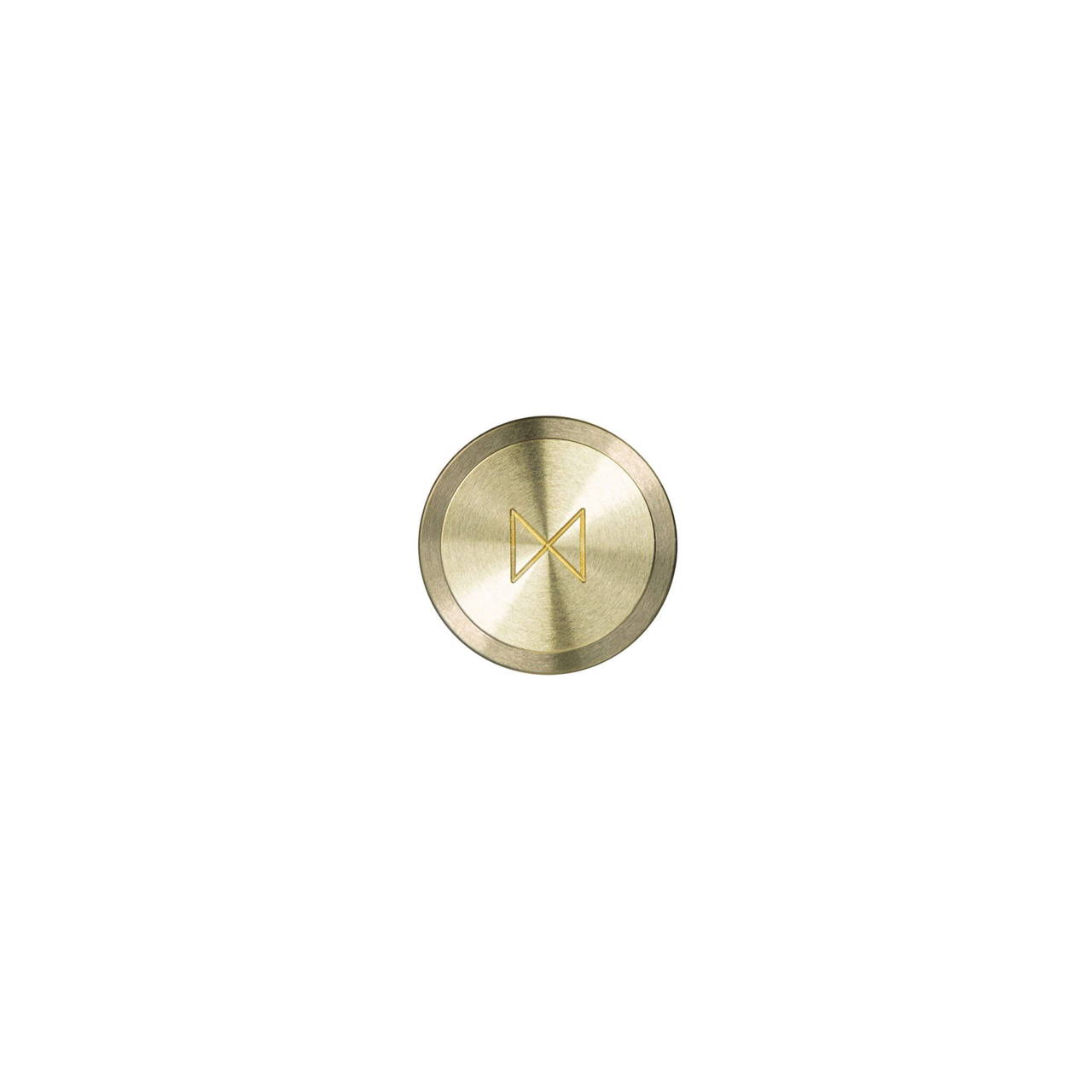 Brass Cufflink bottom face with monogram