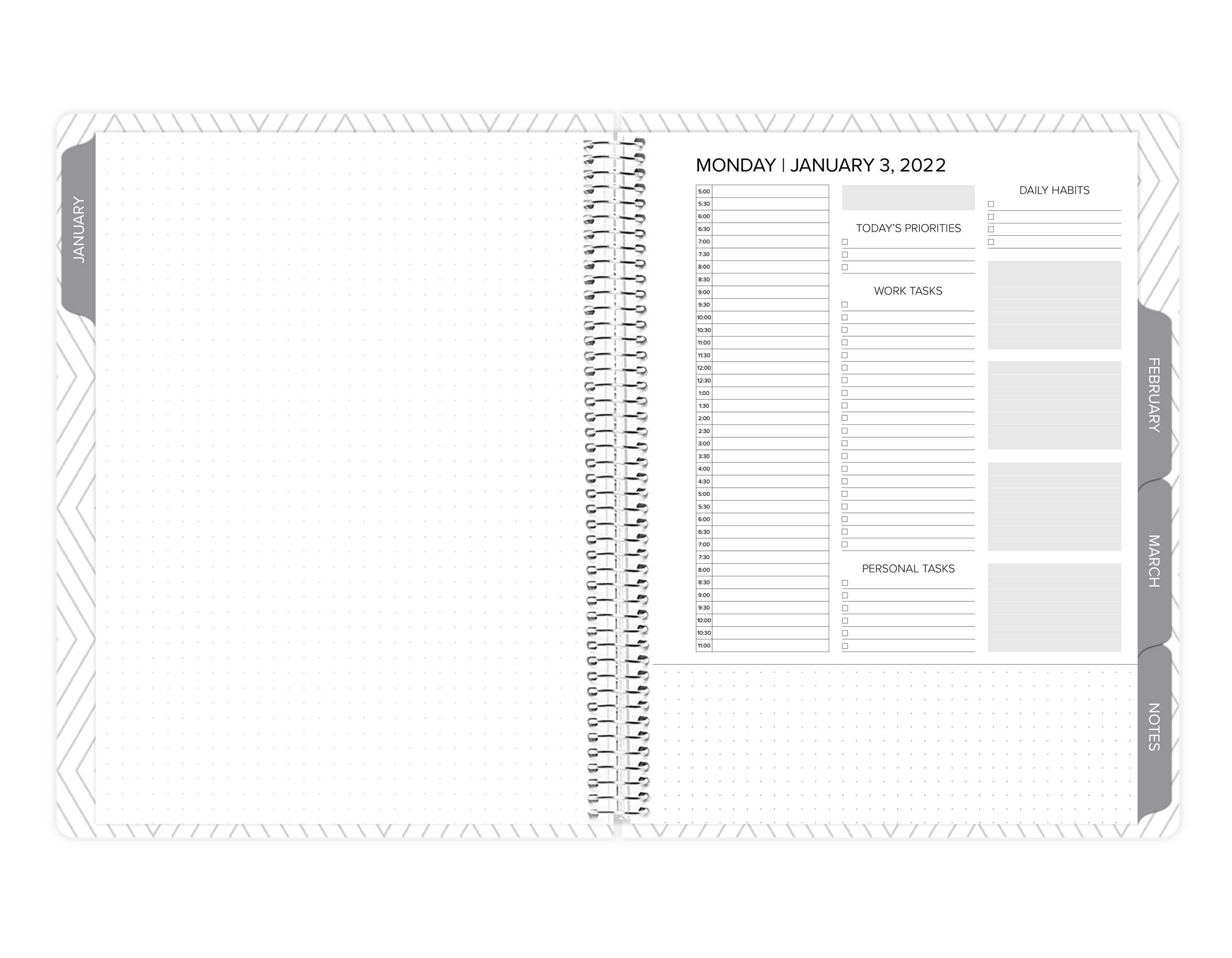 amplify planner weekly notes page