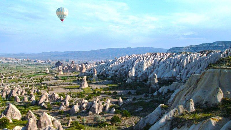 Balloon over Cappadocia, Turkey