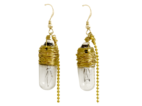 """Light Up for Literacy"" Earrings by Porter Lyons"