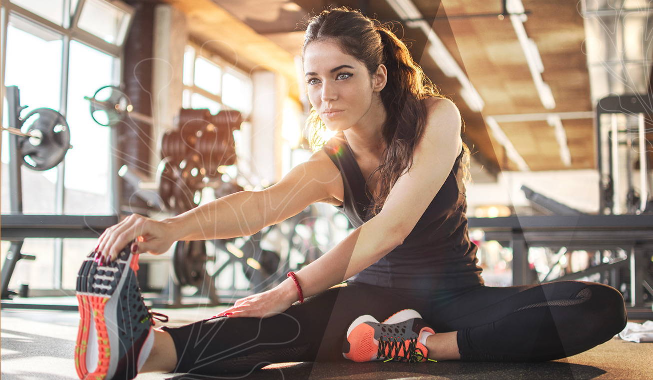 sportive fitness recuperation apres sceance sportive avec étirement