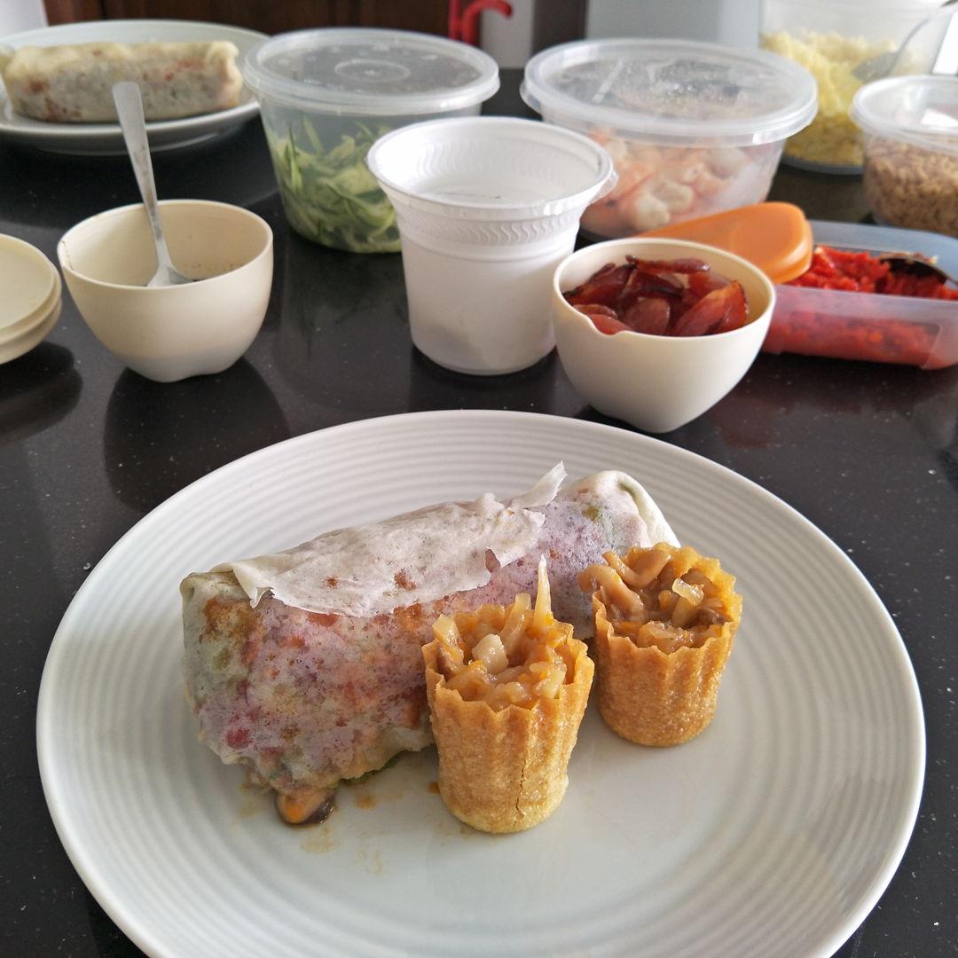 homemade popiah and kuey pie tee for dinnerlast night