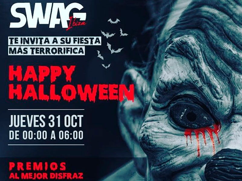Swag Nightclub halloween Ibiza party 2019