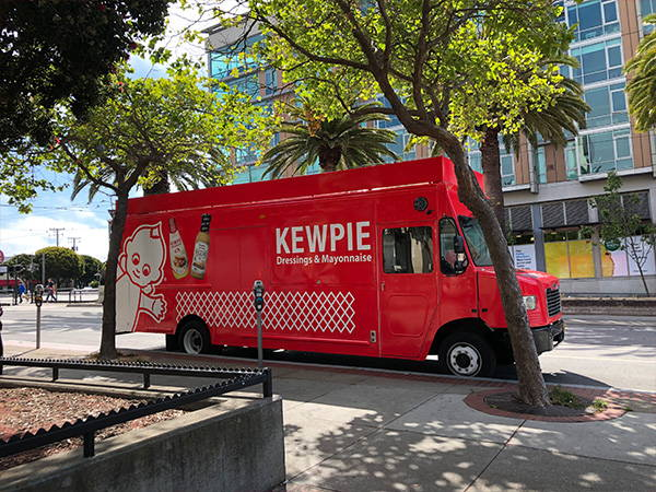 Kewpie food truck parking in San Francisco