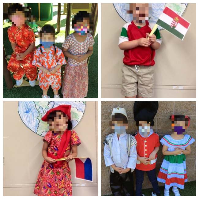 students dressed in their personal cultural attire for the Primrose cultural parade