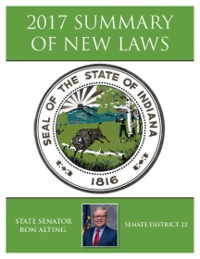 2017 Summary of New Laws - Sen. Alting