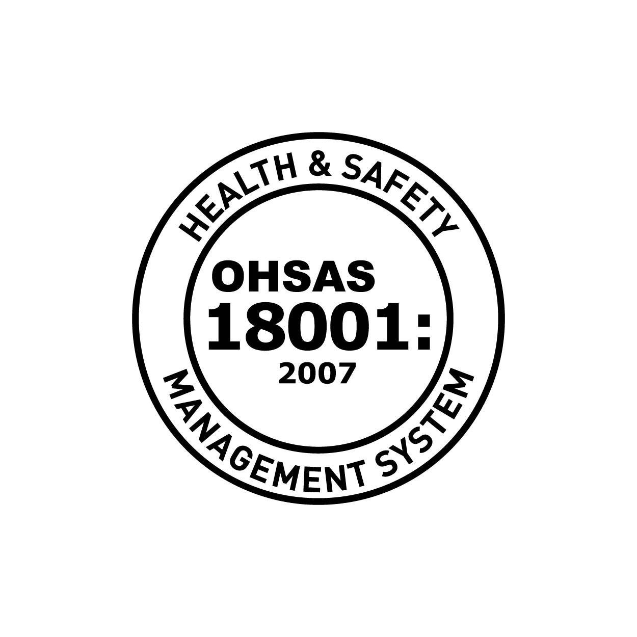 OHSAS 18001:2007 Occupational Health and Safety Certification Logo