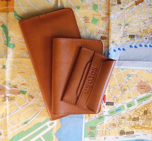 Набор Travel Ginger. Портмоне, обложка на паспорт и визитница