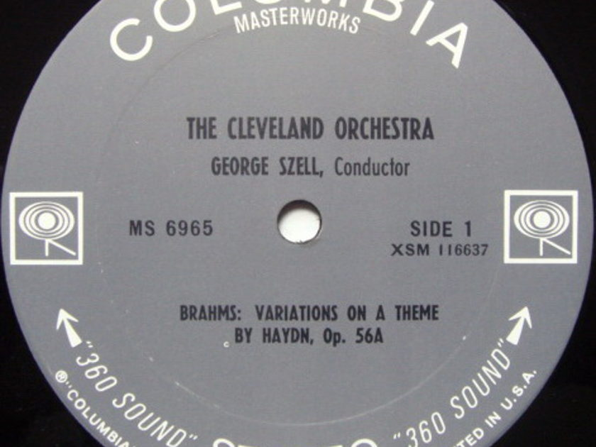 Columbia 2-EYE / GEORGE SZELL,  - Brahms Variations on a Theme by Haydn, NM!