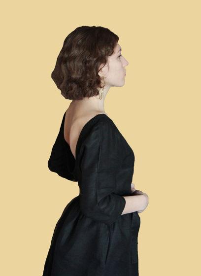Платье  льняное FLAX BLACK
