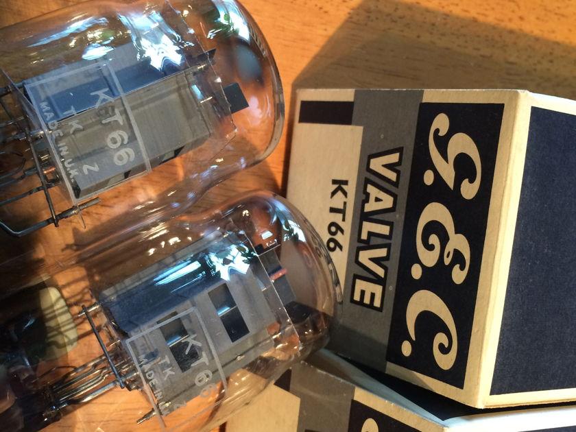 Matched PAIR GEC BOTTOM-CUP-GETTER CV1075/KT66 # NOS # legendary tubes