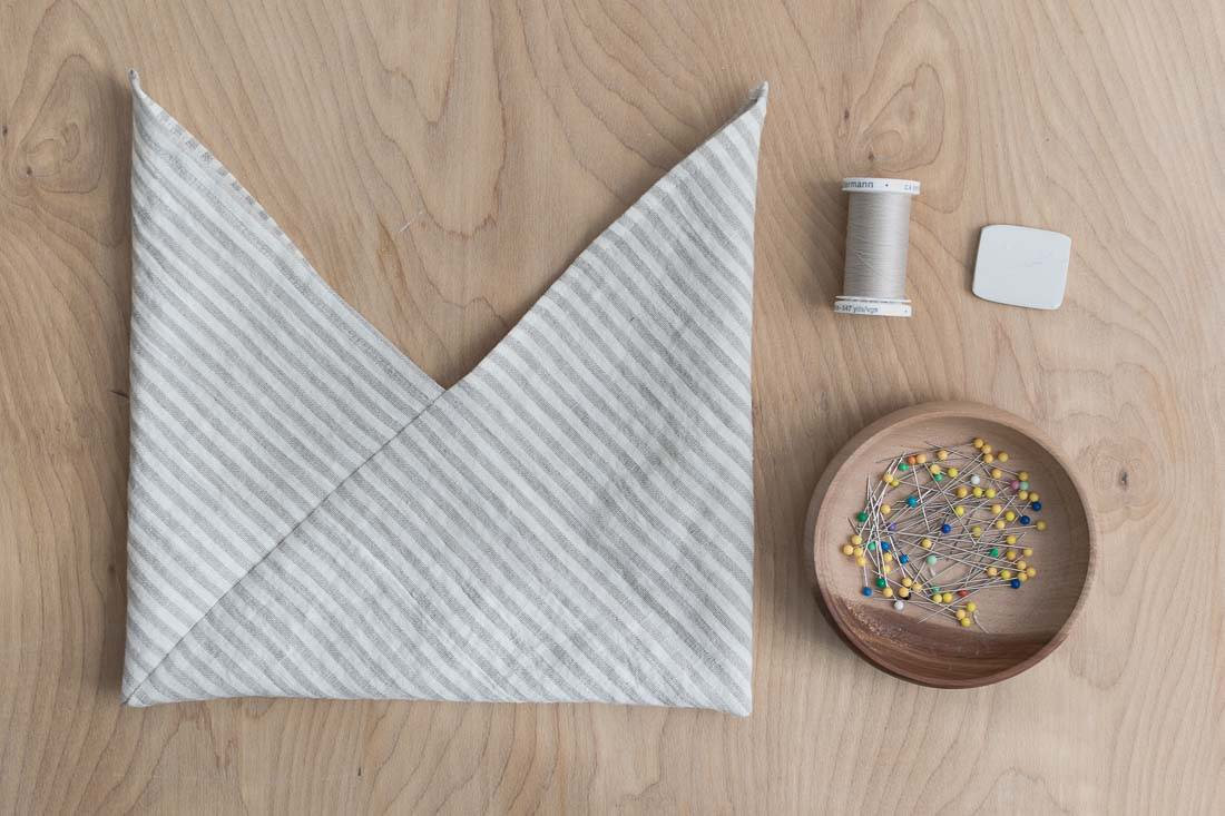 DIY Origami Bag Knotted Pouch Sewing Pattern and Tutorial