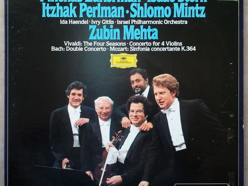 DG Digital   ZUKERMAN/STERN/PERLMAN/VIVALDI - Four Seaseons, Concerto for 4 Violins/BACH Double Concerto/ MOZART Sinfonia Concertante / 2-LP / NM