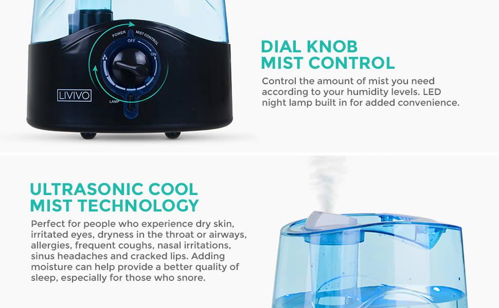 Ultrasonic Cool Mist Technology