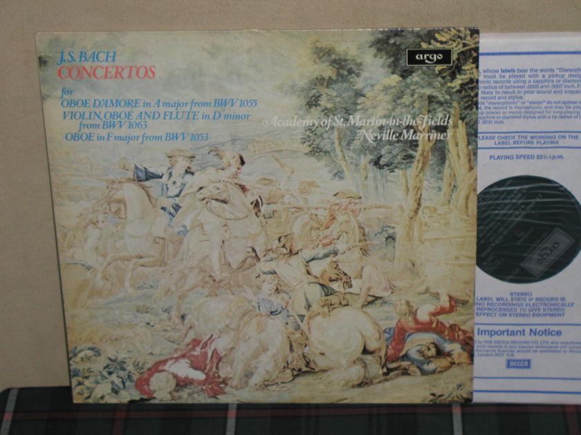 "Marriner/AoStMitF - J.S.Bach ""Cto.For Oboe"" UK Argo/Decca ZRG-821"