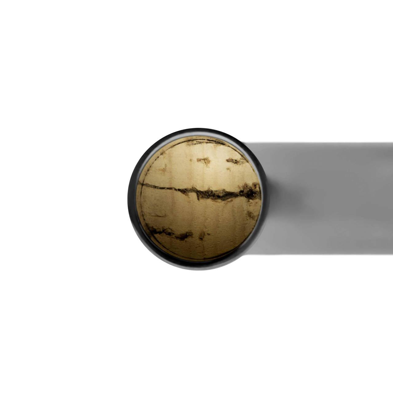 U Candleholder in Black Nickel cork detail