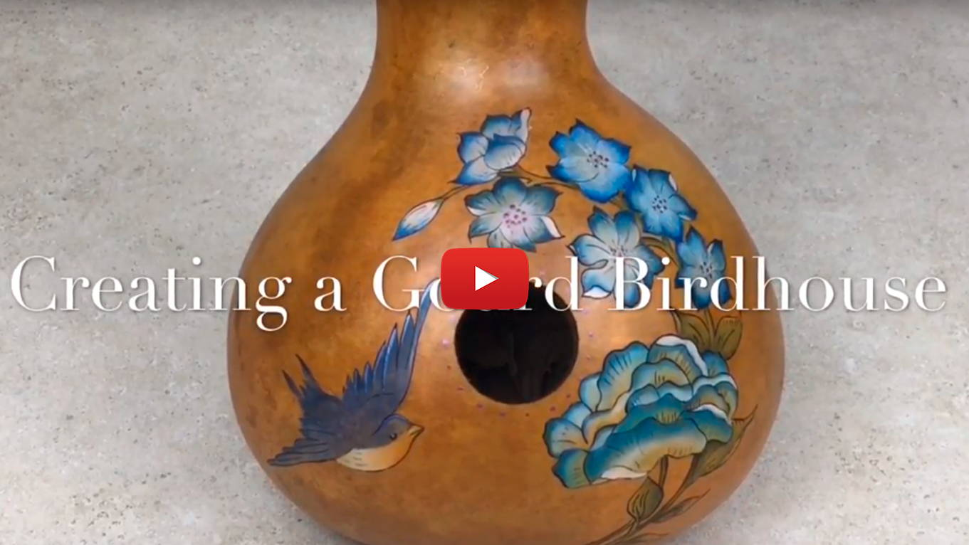 Watch DIY Blue Floral Gourd Birdhouse