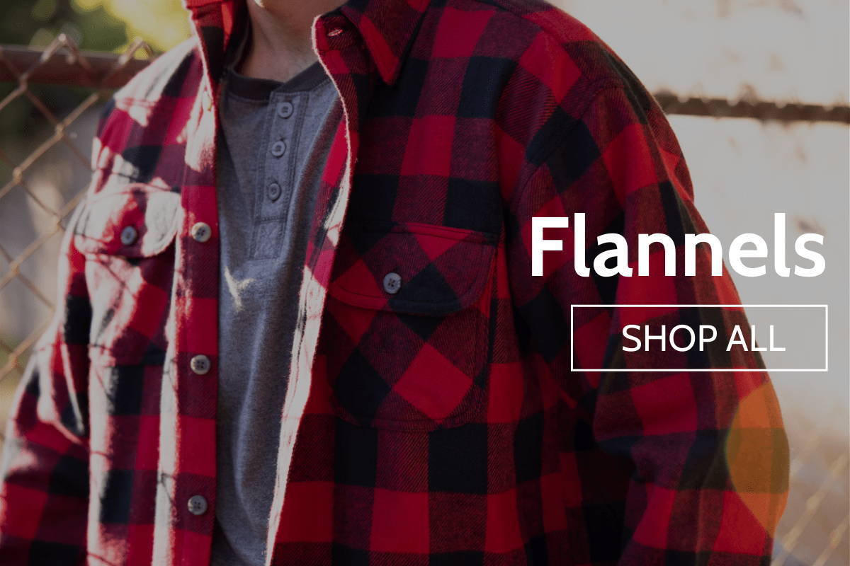 Man wearing red flannel