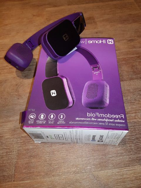 RENTERS BAY: Purple headphone wireless