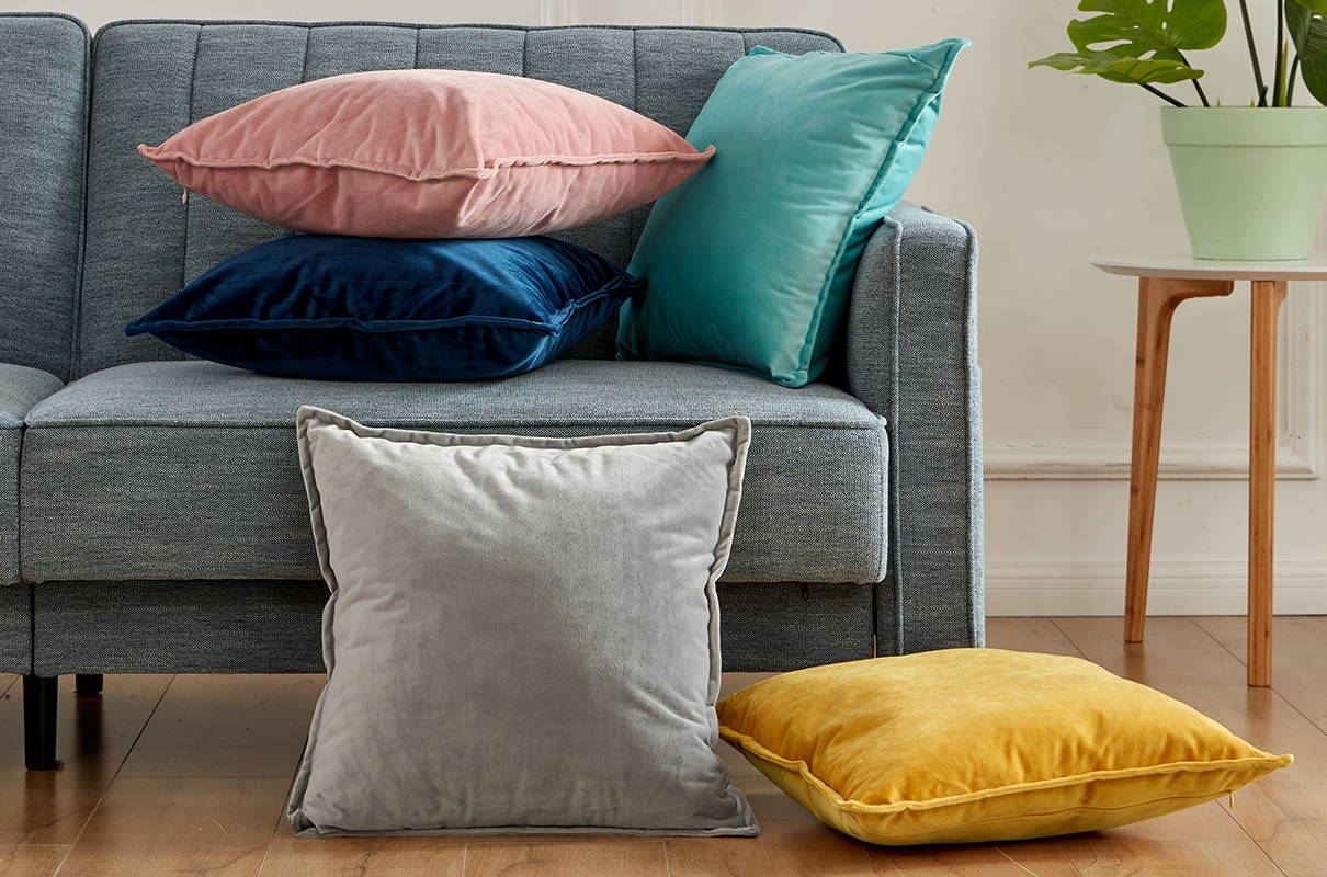 sleep zone bedding website store products collections  satin pillowcase velvet throw pillow covers colorful on sofa