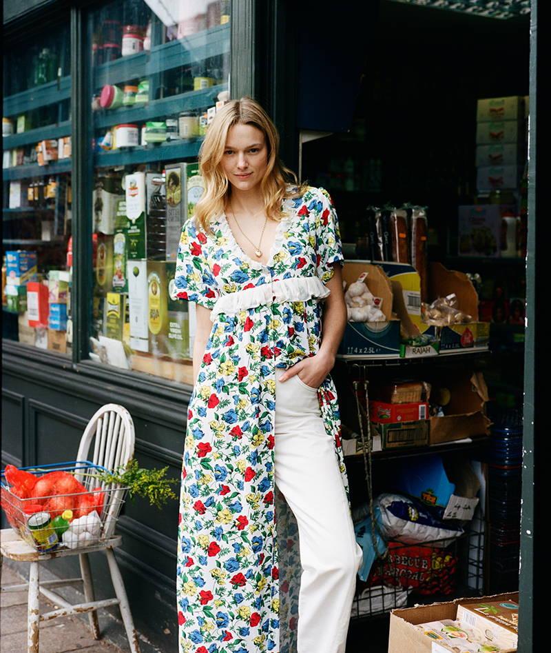 Anais Garnier in YOLK's Valentina Day Dress
