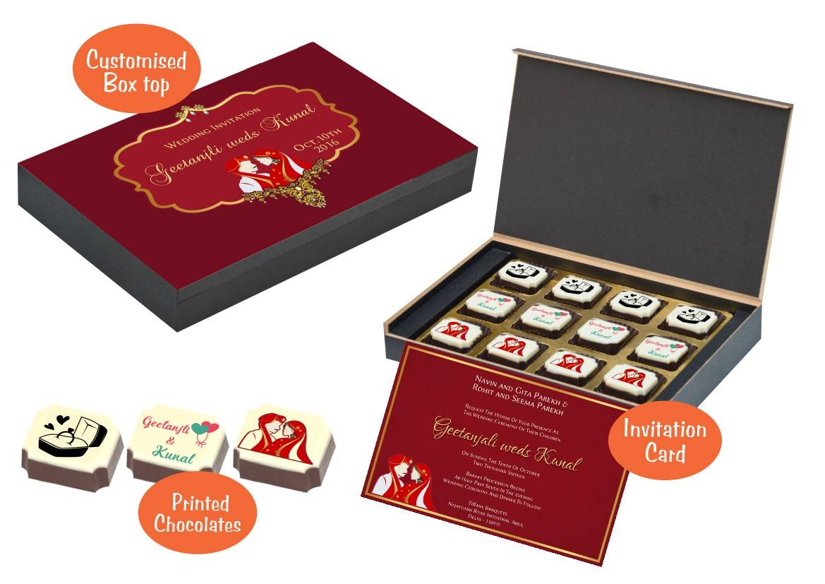 Traditional Wedding Invitation – CHOCOCRAFT