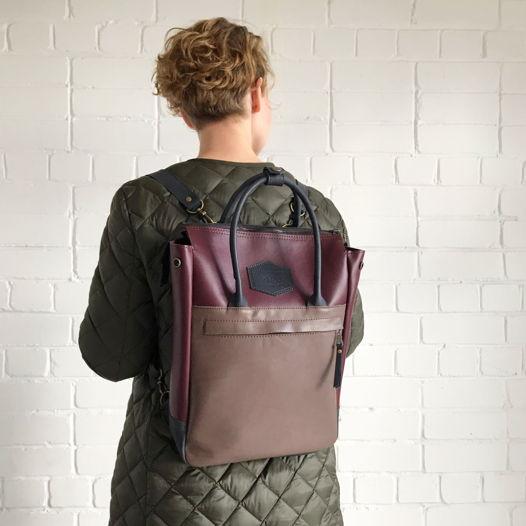 Кожаный рюкзак-сумка Urban Pack Grape Sorbet
