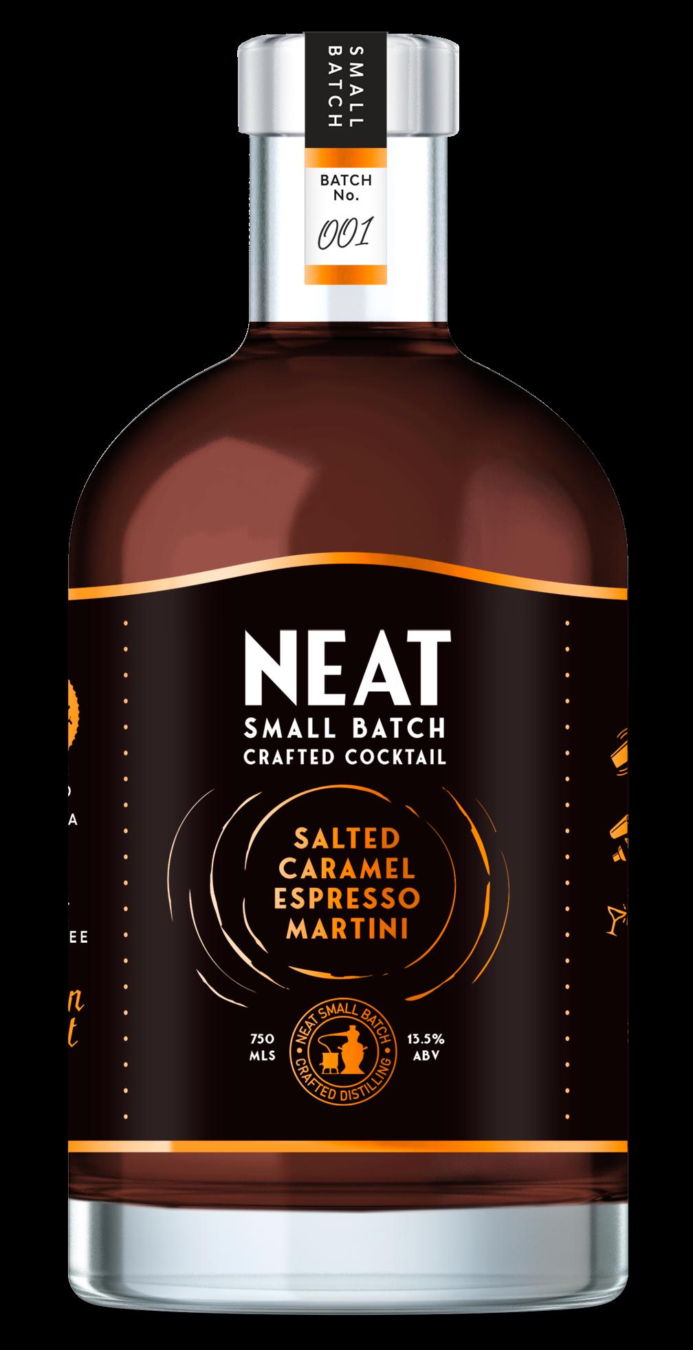 Neat Salted Caramel Espresso Martini Bottle