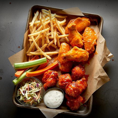 Picture of Buffalo Wild Wings locations are offering takeout and curbside pickup.