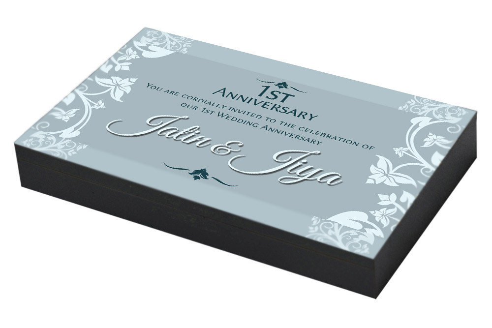 Floral 1st Marriage Anniversary Invitation