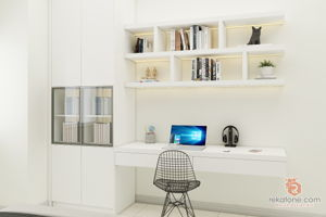 spaciz-design-sdn-bhd-minimalistic-malaysia-selangor-study-room-white-brown