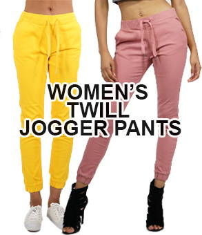 Shop women's twill jogger pants