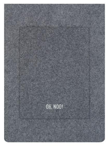 Чехол из фетра для MacBook и ноутбуков, темно-серый, вертикальный